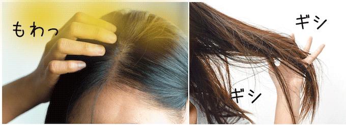 だから頭皮から嫌な臭いがしたり、ギシギシの髪に。